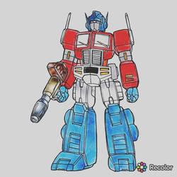 optimus prime digital coloring  by argusZn