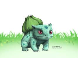 001 Bulbasaur by CamusAltamirano