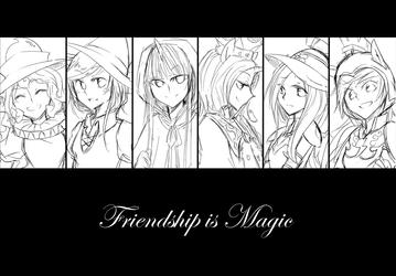 Friendship is Magic (sketch) by ya0427