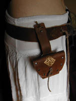 Elven Leather Belt and Pouch by ErurainaCrafts