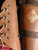 Elven Celtic Leather Bracers by ErurainaCrafts