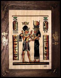 Egyptian Symbol Wood Frame by ErurainaCrafts
