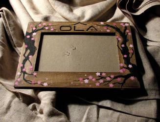 Cherry Blossom-esque Frame by ErurainaCrafts