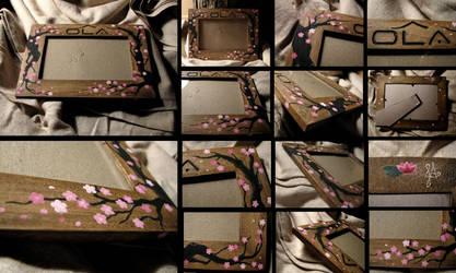 Cherry Blossom-esque Frame II by ErurainaCrafts