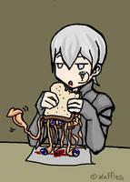 Serph Eats a Sandwich by WafflesMcCoy