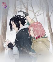 Snowfight - SasuSaku by Regi-chan