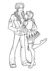 Jace And Tara Lineart by emme