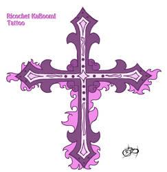 Taffy's-Israfel's Cross Tattoo! by BalloonPrincess