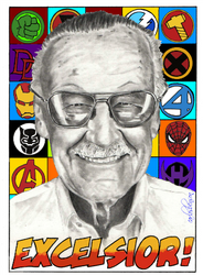 Stan Lee by Xgrunt