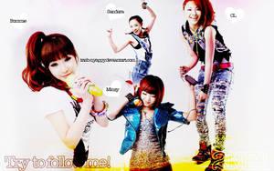 2NE1 - 'Try to follow me' by trish-nyappy