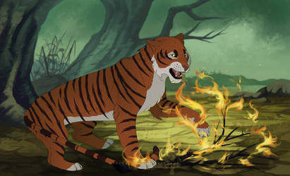 everyone runs from shere khan by hopeowl