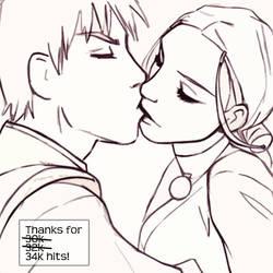 Zutara Kiss by Mad-Sniper