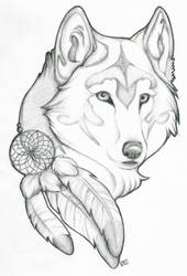 Wolf Tattoo Design by devonrex551