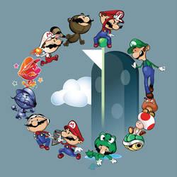 Mario v Luigi by gottabecarl