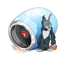 Frank the Easter Bunny by gottabecarl