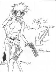 RWBY OC : Sayuri Fujibayashi by necromorph-silence