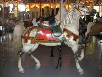 Dappled Grey Carousel Horse by ChaosToGlory