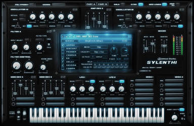 Sylenth VST gui design by Scott-Kane