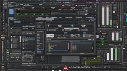 Titanium Style / Audio GUI Design by Scott-Kane