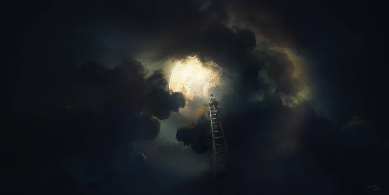 Man Catching the Moon by Scott-Kane