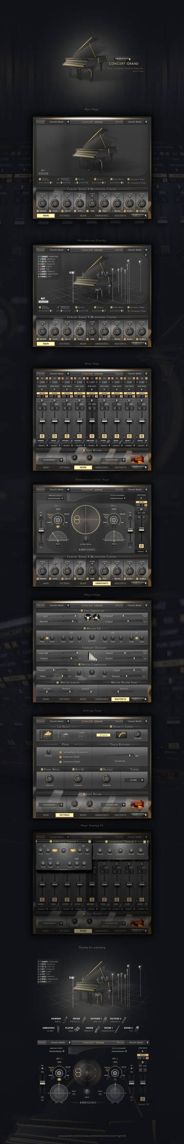Concert Grand Piano User Interface Design by Scott-Kane