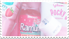 pink food stamp by stratosqueer