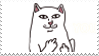 middle finger cat stamp by stratosqueer
