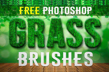 Free Photoshop Grass Brushes by PsFiles