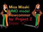 MMD Newcommer UTAU Misa Misaki by Ikari-Kurumi