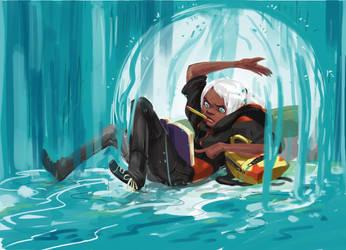 Storm  Sketch Dailies by Axazel