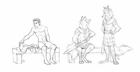 [Comm'ed] In the changing room by Iakobbaz