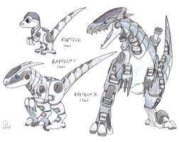 Robot Dinosaur Attack by FawkesTheSkarmory
