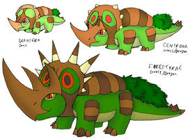 4th Grass Starter: Wood-Horned Faces by FawkesTheSkarmory