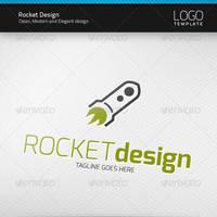 Rocket Design Logo by artnook