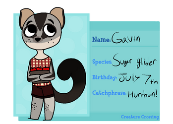 {CC} Gavin the sugar glider by Regalities-end-wars