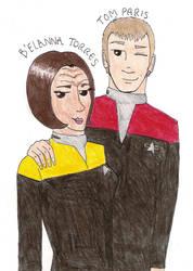 Tom and B'Elanna by sickboyrocks