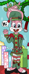 Babs Bunny in Christmas Elf by teamlpsandacnl