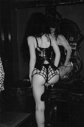 Rubber spider webs and Victorian corset , 1995 by MidnightZodiac