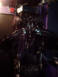 Baphomet leather mask by MidnightZodiac