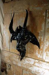 Leather Baphomet mask by MidnightZodiac