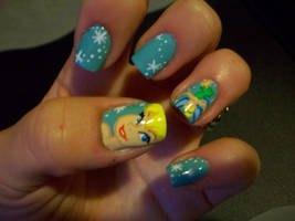 Tinkerbell Nails by artsynails