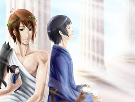 :APH: Happy B-day Greece by Inupii