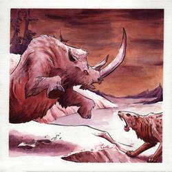 Prehistoric Encounter by IanJoswick