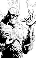 Swamp Thing - Black and White by IanJoswick