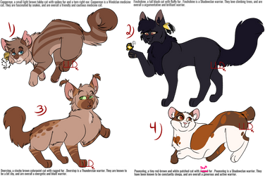 Warrior Cat Adoptables Batch (3/4 open) by LittleLifeDoodles