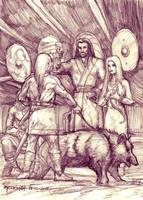 The Yule Oath (Sketch) by Meredyth