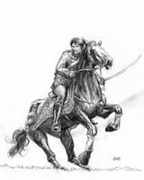 Hussar Attack (Sketch) by Meredyth