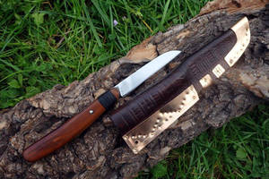 Viking Age Knife and Scabbard by Meredyth