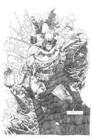 BATMAN - ARKHAM ASYLUM by fwatanabe