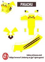Papercraft Pikachu by SonicNerd101